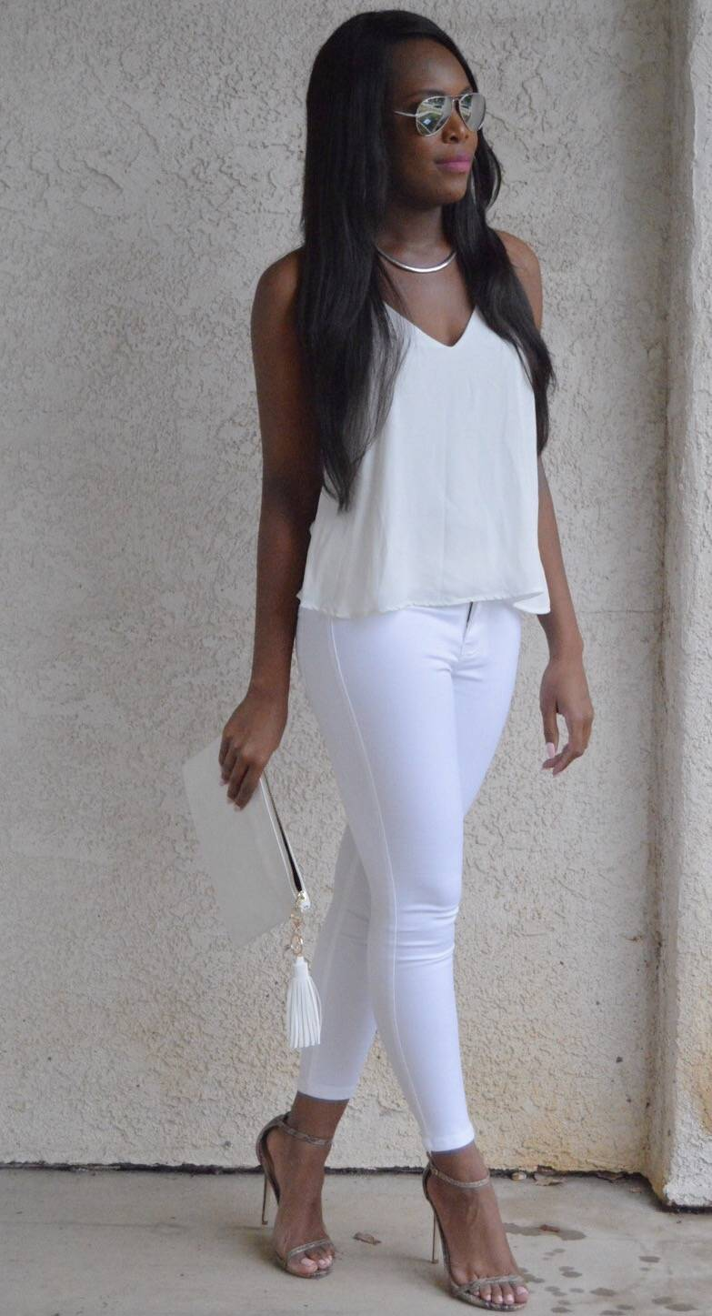 All White Outfit - LeFabChic.com
