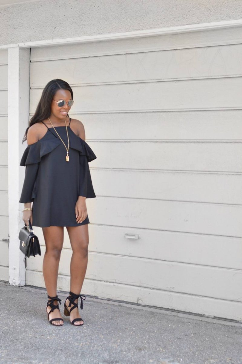 Casual little black dress- Le Fab Chic