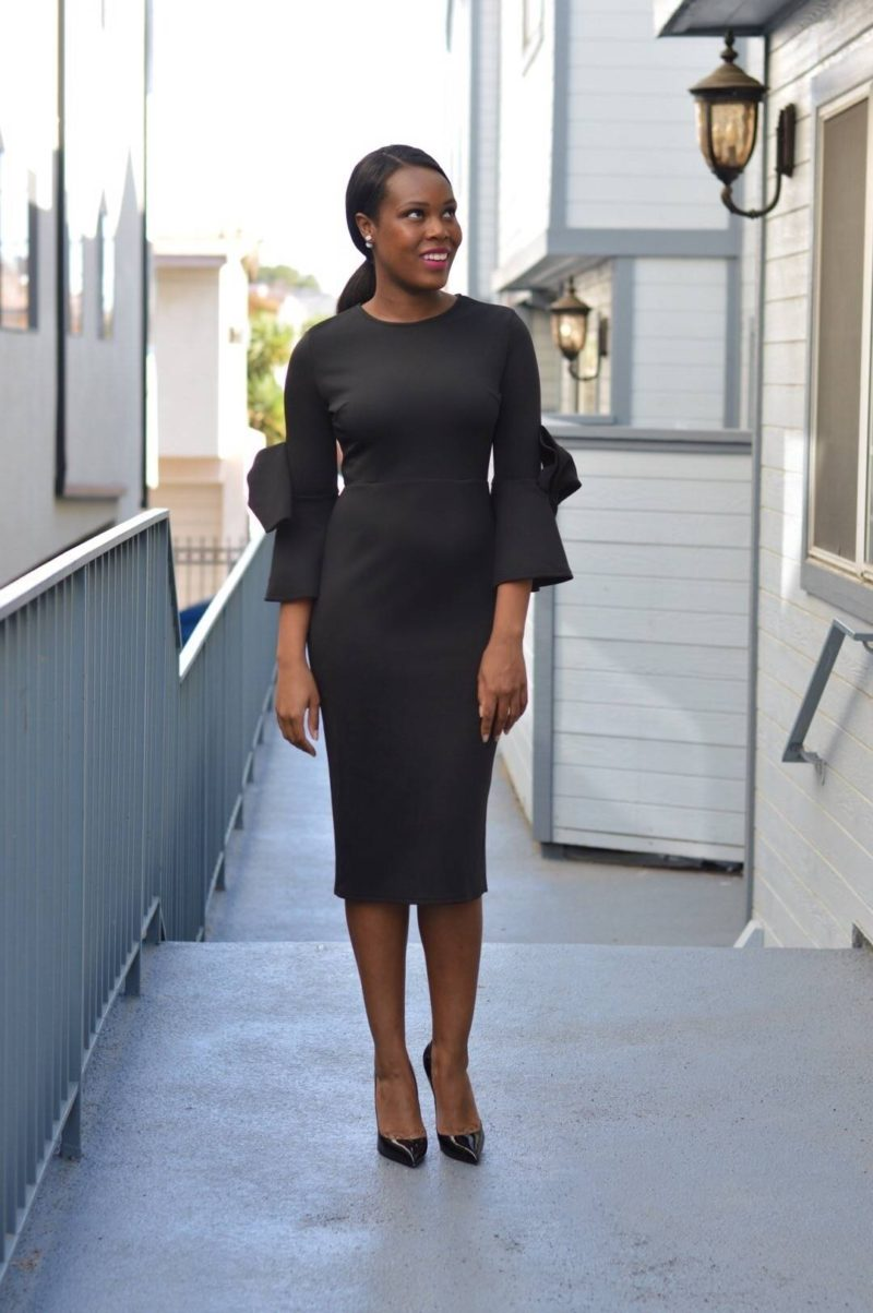 Dressy Black Dress - Le Fab Chic