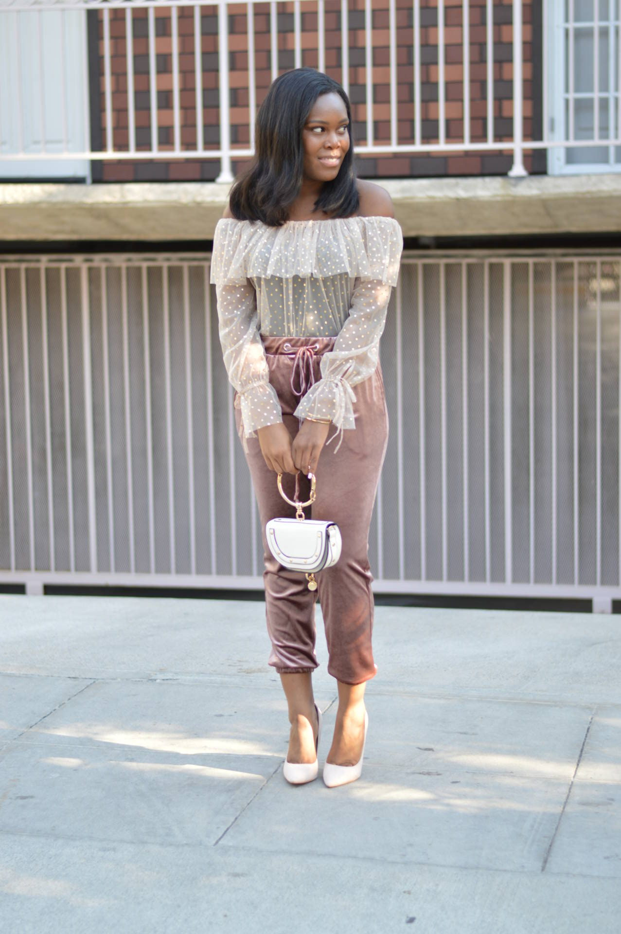 Dress Up Velvet Joggers - Le Fab Chic