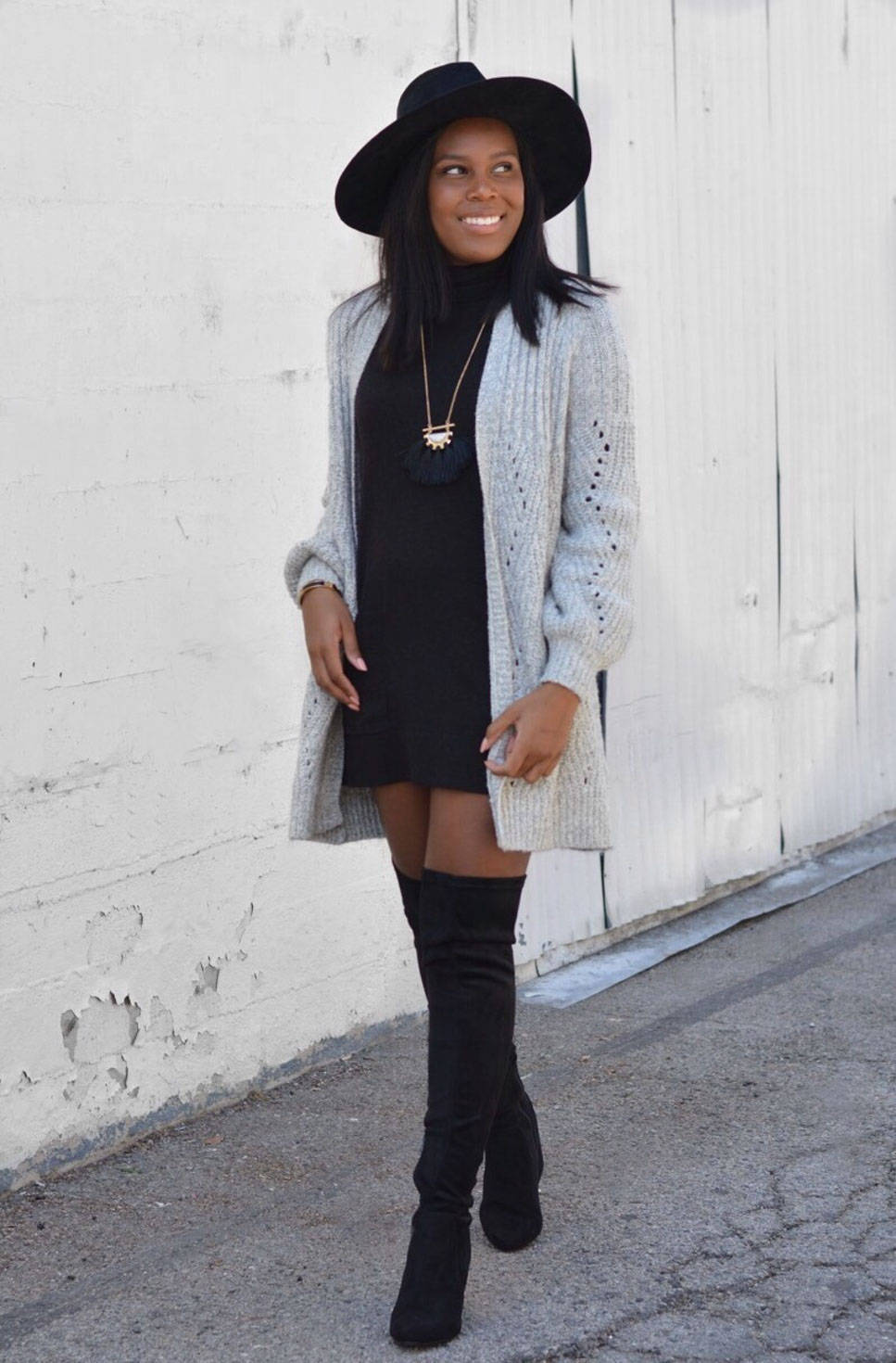 fall sweater outfit - le fab chic