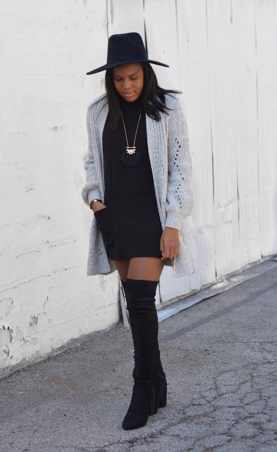 sweaters and boots outfit
