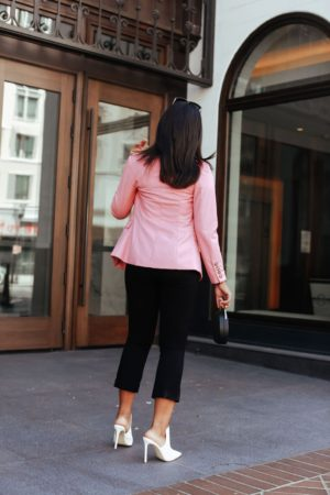 Pink Blazer Outfit Idea -Le Fab Chic
