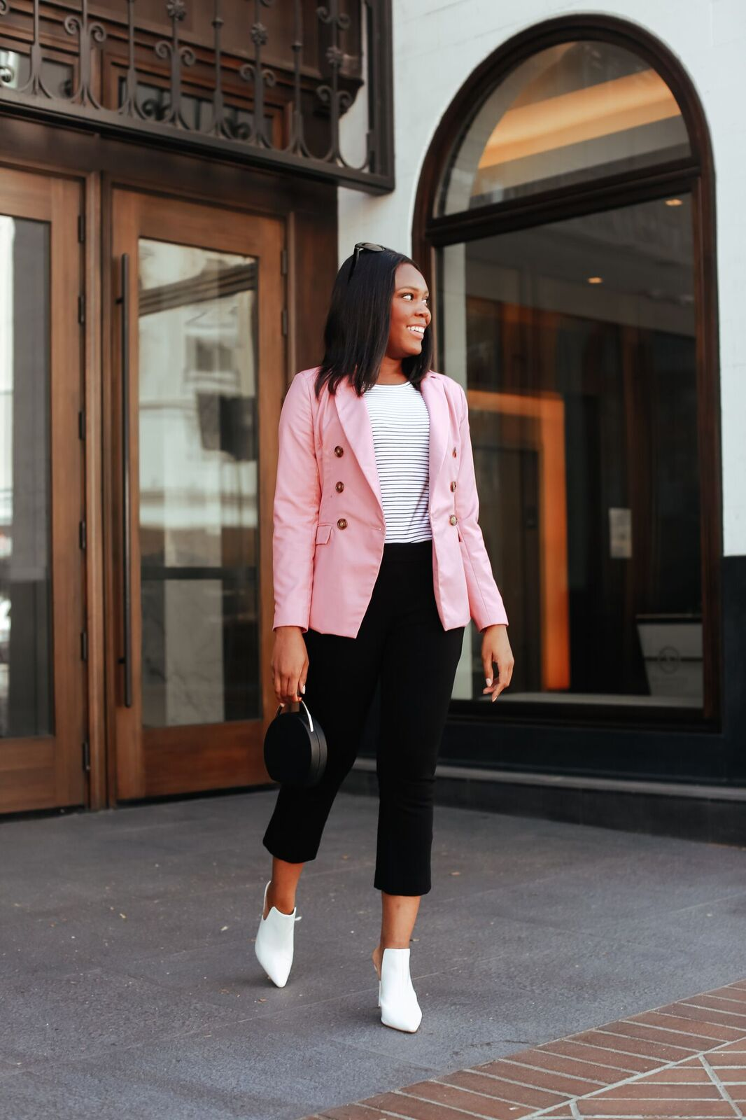 Pink Blazer Style- Le Fab Chic