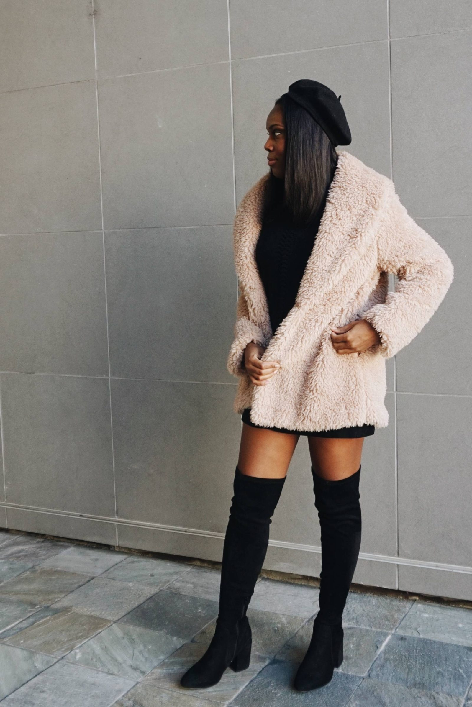 teddy coat trend-le fab chic