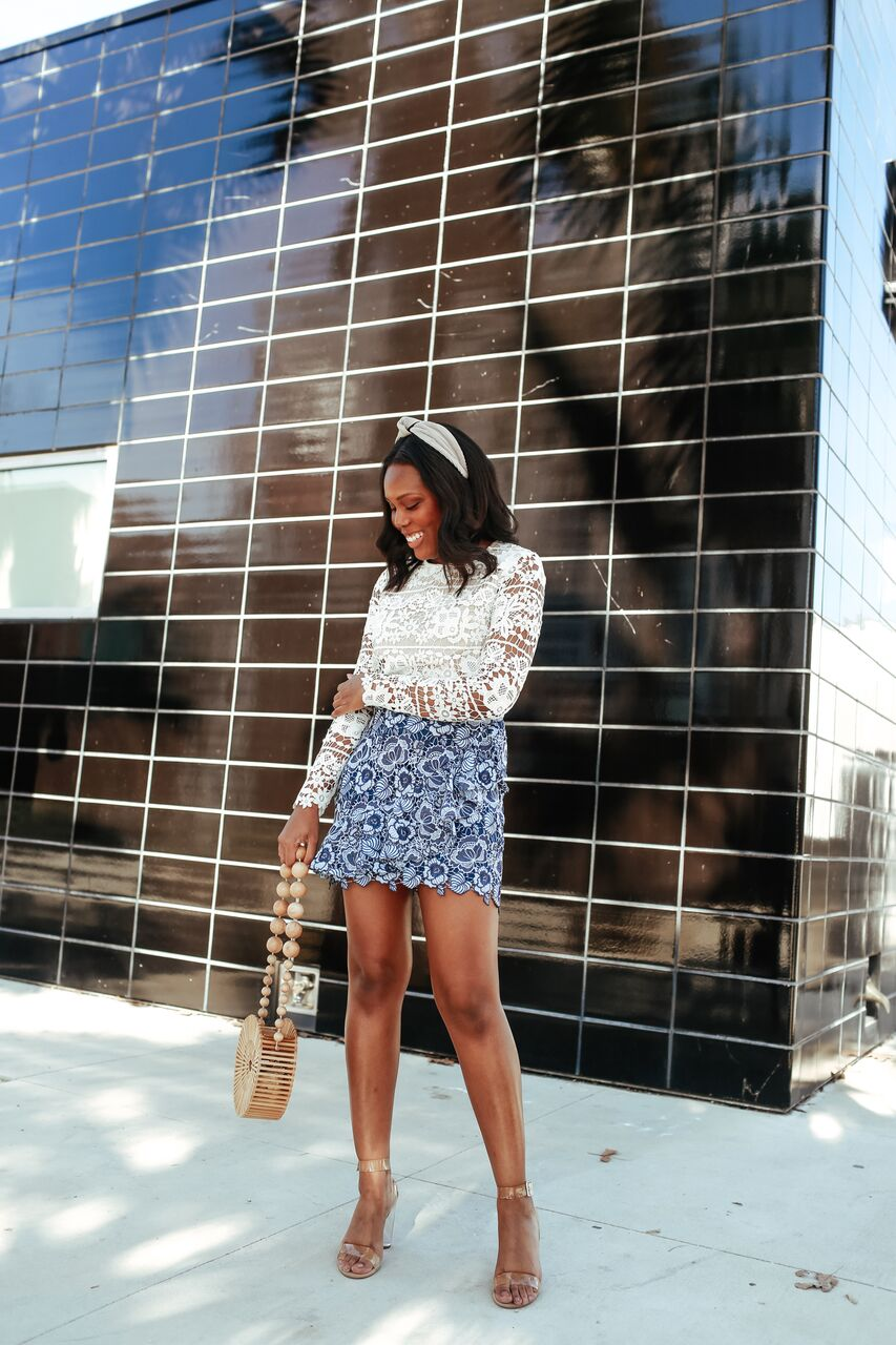 Lace Outfit For Spring -Le Fab Chic