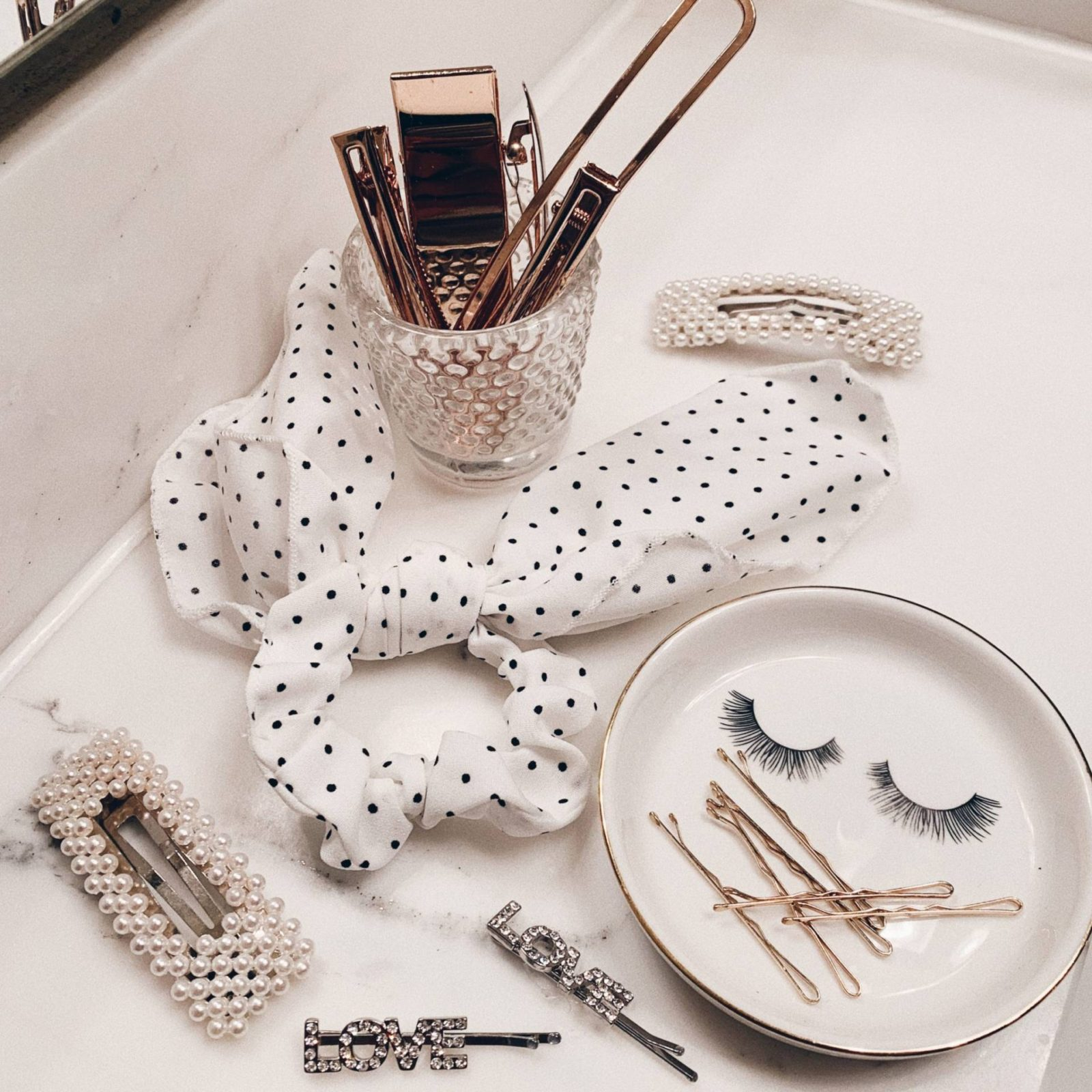 Top Hair Accessory Trends for 2019-LeFabChic - flatlay