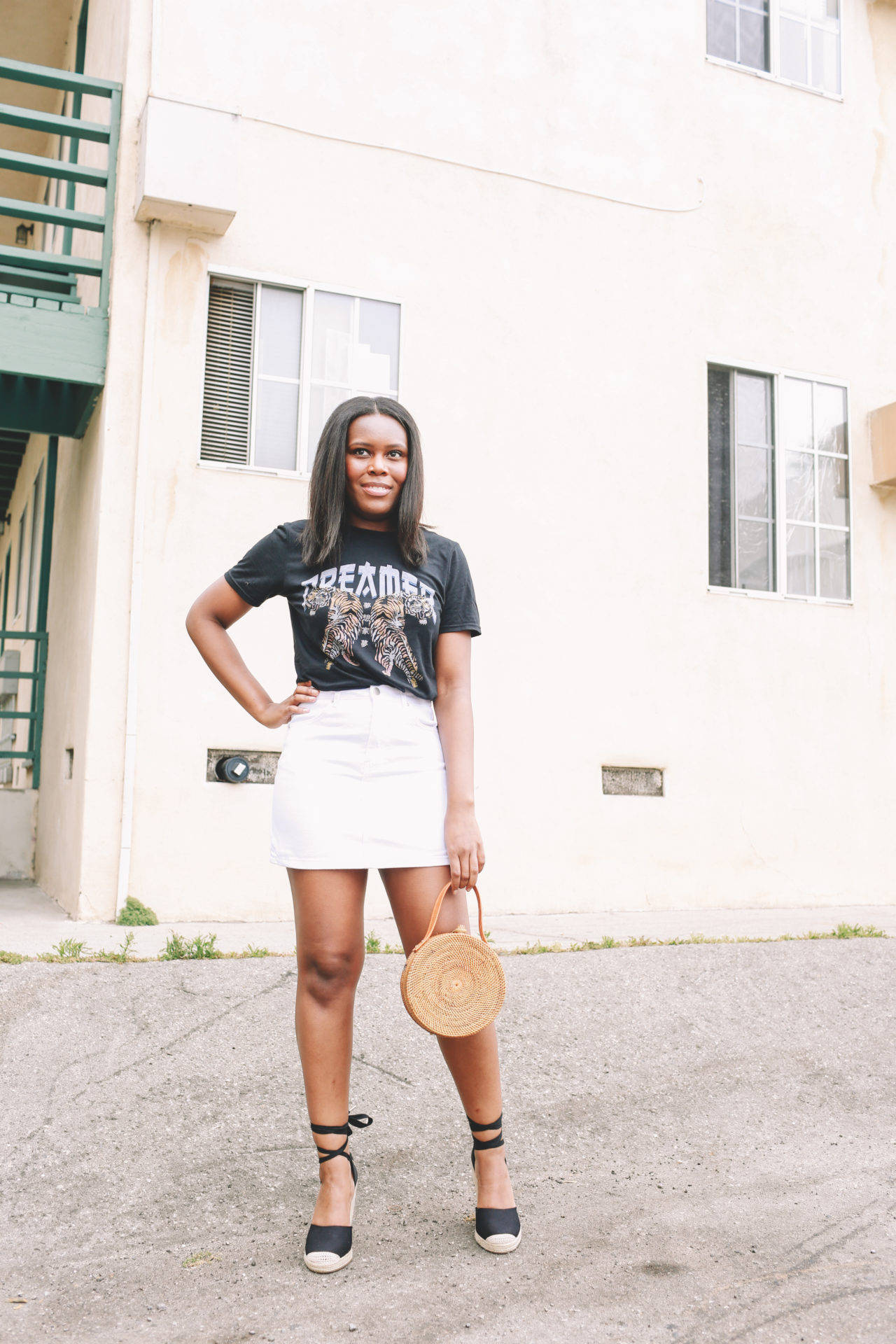 Graphic Tee With Skirt - LeFabChic