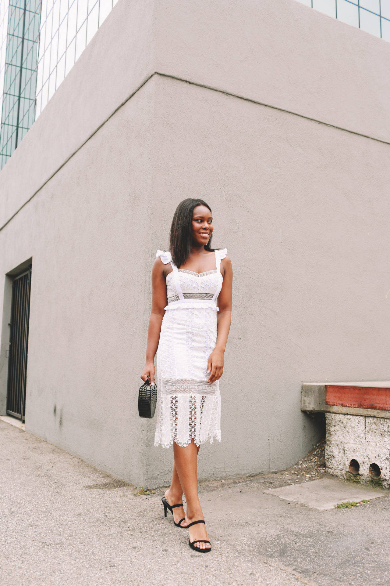 White Lace Dress - Le Fab Chic