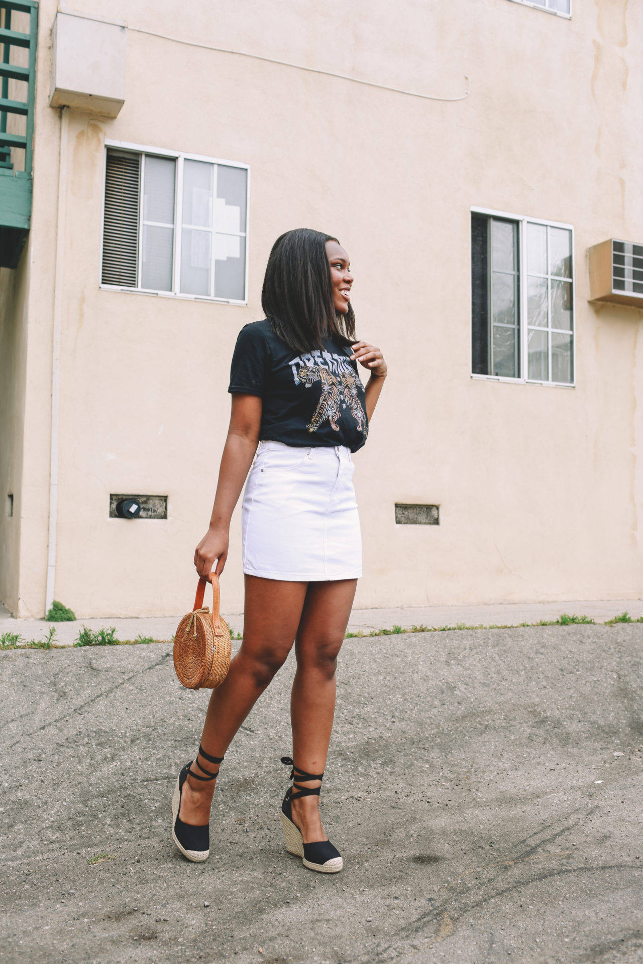 Graphic Tee Outfit Idea - Le Fab Chic