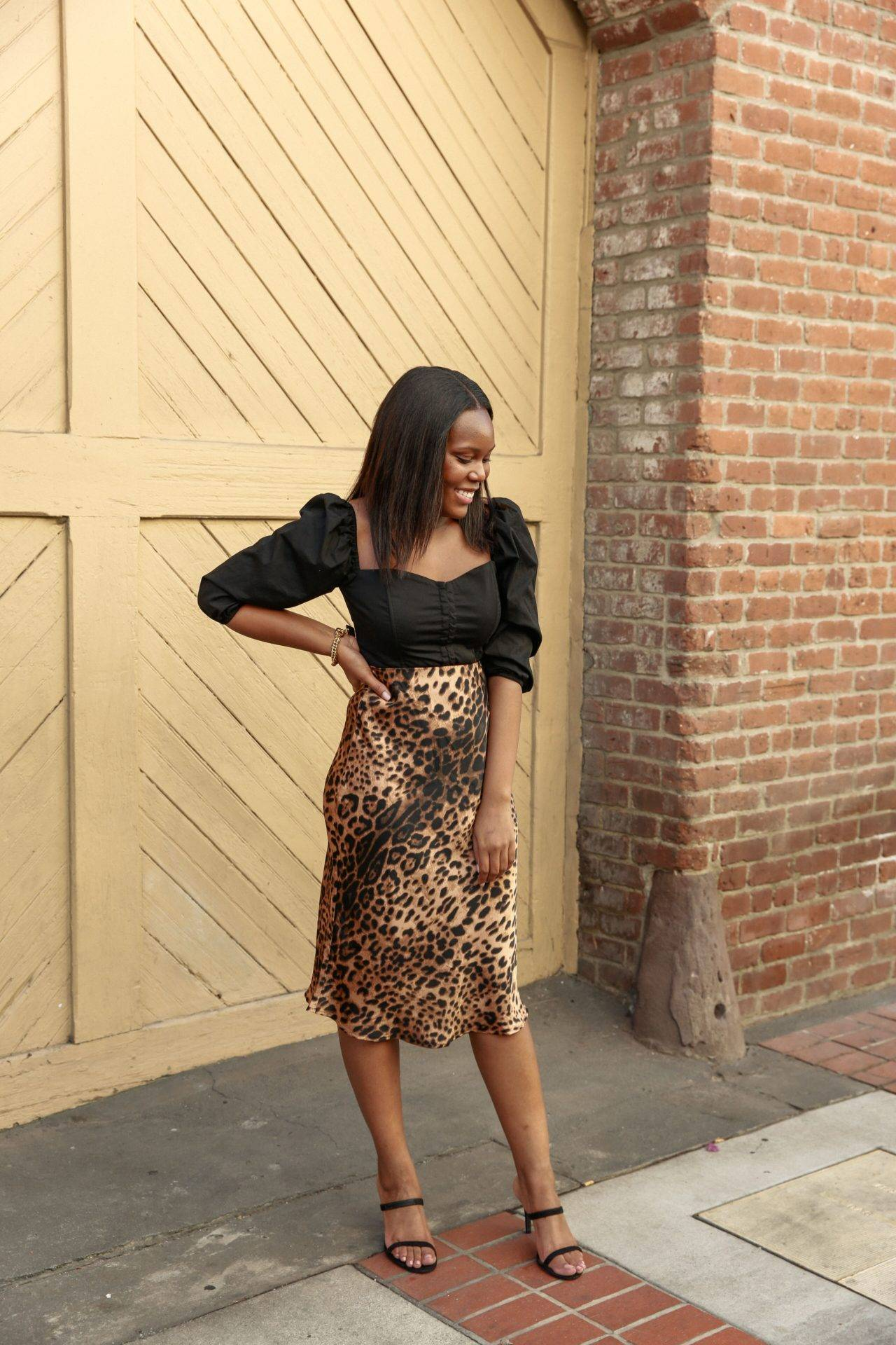 Satin Leopard Skirt - Le Fab Chic