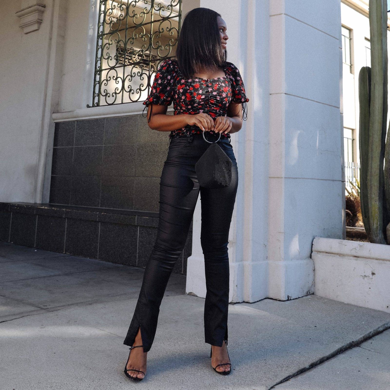 How to Style Coated Jeans - Le Fab Chic