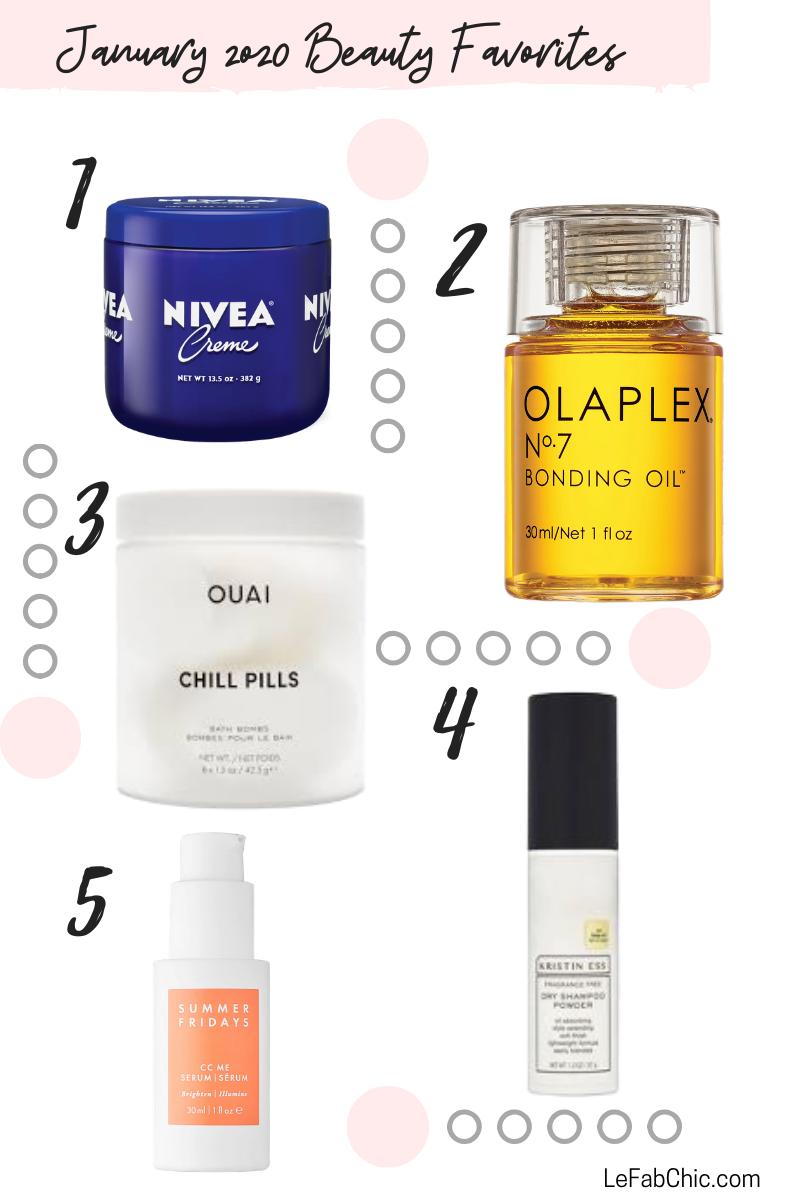 January 2020 Beauty Favorites - Le Fab Chic