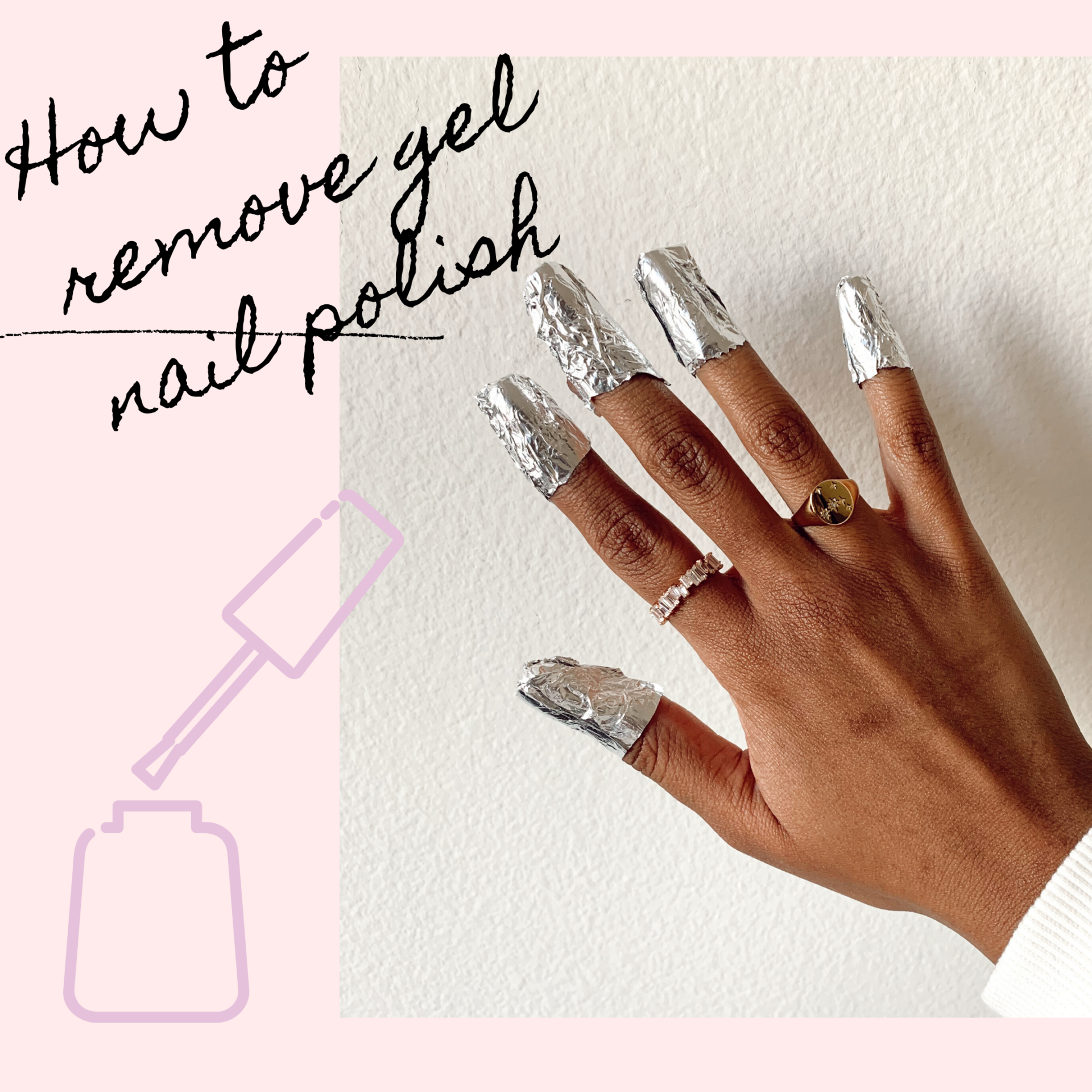How to remove gel nail polish at home - le fab chic