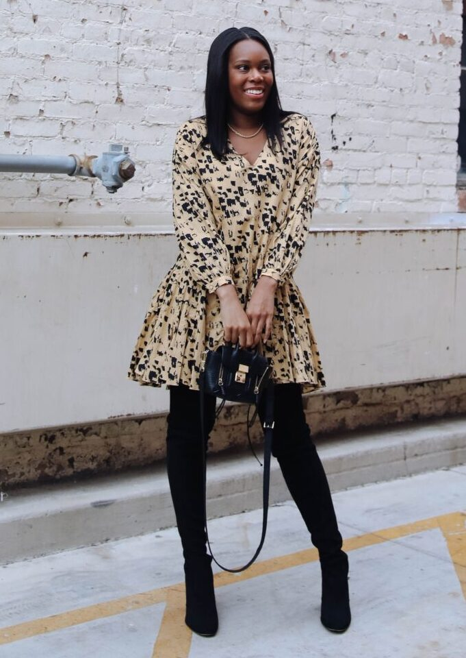 Tips on How to style an oversized dress - le fab chic
