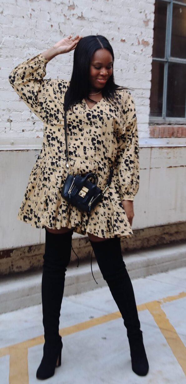 How to style an oversized dress - le fab chic